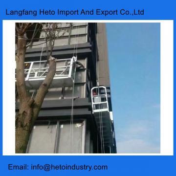 Sistema de acceso en altura de aluminio de 6 metros. ZLP630 andamio colgante.