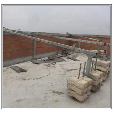 Chile pintando andamios colgantes eléctricos de acero ZLP800 para mantenimiento de edificios